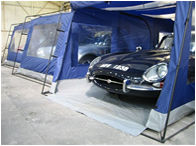 Car storage free standing air flow storage tents