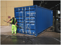 Preparing a new self storage container